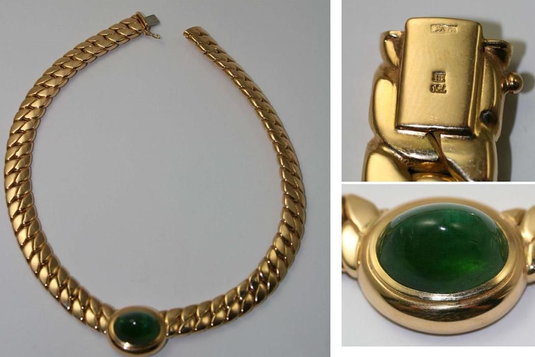 Похищенное золотое украшение.